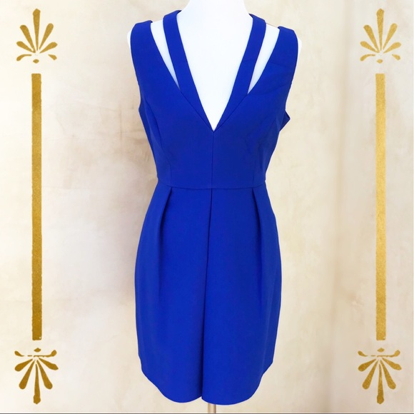 547ca0498 BCBGMaxAzria Dresses | Clayre Blue Pleated Dress 12 Nwt | Poshmark